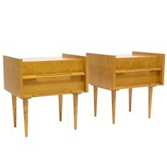 1stdibs | Pair Of Nightstands/ End Tables By Edmund Spence