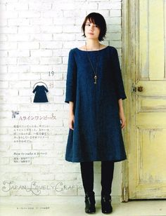 Natural Style Clothes for Autumn Winter & by JapanLovelyCrafts