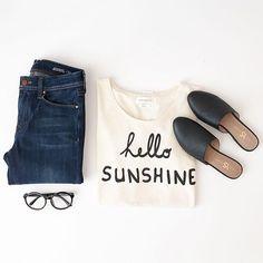 Hello sunshine #outfit #denim