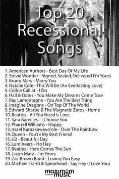 Top 20 Recessional Songs