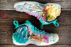 GOURMETKICKZ CUSTOM NIKE AIR FOAMPOSITE ONE (MIAMI BEACH) - Sneaker Freaker
