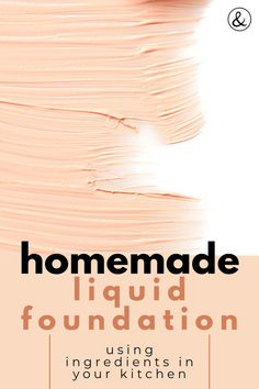DIY liquid foundation is a combination of homemade face powder using ingredients in your kitchen. This homemade makeup is all natural too! Diy Makeup Foundation, Homemade Foundation, Organic Foundation, Liquid Foundation, Face Foundation, Drugstore Foundation, Homemade Beauty Products, Makeup Products, Homemade Cosmetics