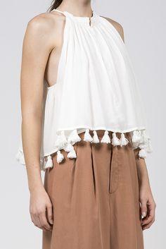 Galisteo Wabi Sleeveless Top, White by Apiece Apart @ Kick Pleat - 7