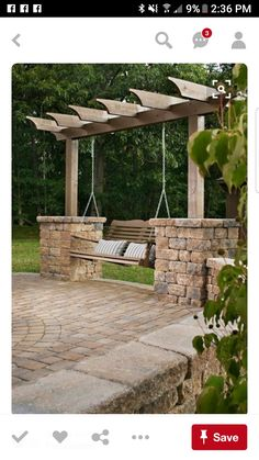 garten gestalten ideen gartenschaukel pergola The Effective Pictures We Offer You About Garden Art wind chimes A quality picture can tell you many things. You can find the most beautiful pictures that Backyard Patio Designs, Backyard Projects, Backyard Landscaping, Landscaping Ideas, Backyard Seating, Garden Projects, Terraced Backyard, Pergola Designs, House Projects