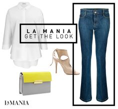 FLARED NATALI JEANS AND CLASSIC BELLINA BLOUSE