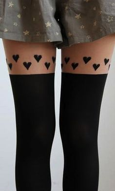 1bada1814be hearts stocking - all these photoshopped thigh gaps are killing me. XD I ve