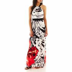 Miss bisou halter maxi dress