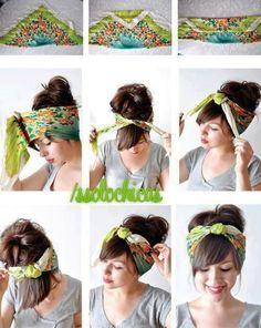 Transform an adorable scarf into a super boho style for your hair!