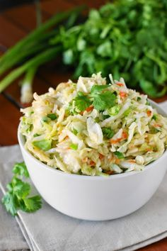 Sweet & Sour Slaw ~ a tangy, crunchy, & delicious no-mayo slaw you will love!   www.thekitchenismyplayground.com