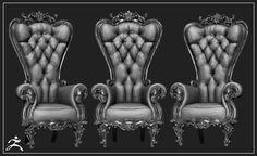 ArtStation - Slytherin chair (wip), Ross Baxter
