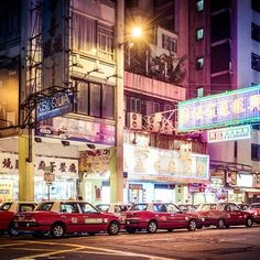 #FAREAST #TAXI by Roman Becker #photocircle #nofilter #hongkong #asia #night #onenightinbangkok #worldsyouroyster #streetlights #streetphotography #redcar #urban  If you buy this #photo Roman Becker and Photocircle donate 13% of the sales price to our #education #project in #Bangladesh.