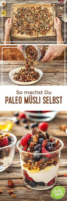 Step by Step Rezept: So einfach geht's: Paleo-Müsli selber machen  Rezept / Kochen / Essen / Ernährung / Lecker / Kochbox / Zutaten / Gesund / Schnell / Frühling / Einfach / DIY / Küche / Gericht / Blog / Leicht  / Paleo / Müsli / Frühstück / Mealprep / Porridge / Haferbrei / Haferflocken / Leinsamen / Nüsse   #hellofreshde #kochen #essen #zubereiten #zutaten #diy #rezept #kochbox #ernährung #lecker #gesund #leicht #schnell #frühling #einfach #küche #gericht #trend #blog #paleo #müsli…