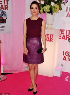 Pretty in plum: Rose Byrne lit up the red carpet at the Australian premiere of her new movie I Give It a Year in Sydney on Tuesday