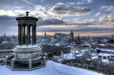 Calton Hill, Edinburgh | 48 Photos That Prove That Scotland In Winter Is Basically Narnia  Uh what?! Def going for our Honeymoon now! ahha