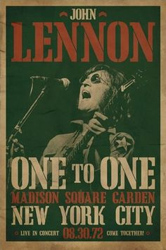 john lennon, live at madison square garden