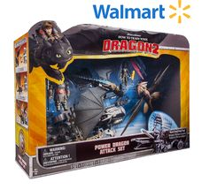 Help Toothless escape Drago and his dangerous, dragon capturing Deluxe War Machine with the Power Dragon Attack set. Available at Wal-Mart.