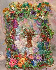 Magical Fairy Forest Wall Art by MixedMediaArtistry on Etsy, $4000.00