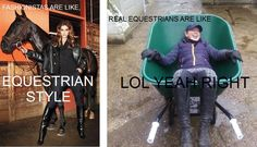 Equestrian Style: Fashionistas vs. real horse women