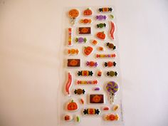 SALE! 3D Kawaii Halloween Themed Mini Puffy Stickers - Planner Filofax Scrapbook Sticker Embellishments - Destash Craft Supplies by niknaxbyArlana on Etsy