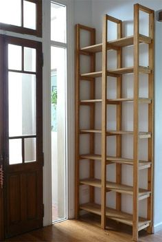 Papeles Pequeños Deco Furniture, Pallet Furniture, Home Furniture, Furniture Design, Bookcase Shelves, Wooden Shelves, Muebles Living, Diy Pallet Projects, Diy Home Decor