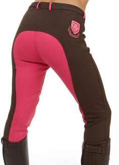 pink and black breeches!!