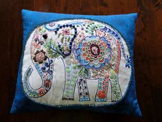 Each beaded art pillow begins with beautiful fabric on the front and back. As often as possible, I purchase my fabrics right here on Etsy from