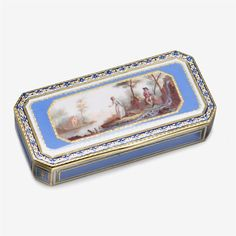 Swiss gold and enameled snuff box circa 1800, possibly George Rémond