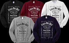 Lana del rey jack daniels Sweater Sweatshirt Crewneck Men or Women Unisex Size
