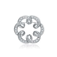 Collette Z Sterling Silver Cubic Zirconia Pin