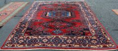 7x10 Beautiful Antique Persian Wiss Sarouk Hand Knotted Oriental Estate Wool Rug