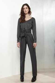 Grey Soft Long Sleeve Kung Fu Jumpsuit