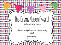 """Free Funny Awards!! .....Follow for Free """"too-neat-not-to-keep"""" teaching tools & other fun stuff :)"""