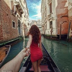 Russian photographer Murad Osmann has documented his travels as he is guided around the world by his girlfriend