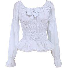 Partiss Women's Low Collar Bow Ruffle Victorian Lolita Sh... http://www.amazon.com/dp/B01EYFF62S/ref=cm_sw_r_pi_dp_jbunxb089S5C2