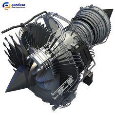 Turbofan Engine Cutaway
