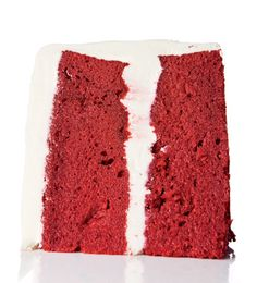 Southern Layer Cakes...  Red Velvet Cake  Though cream cheese frosting is typically used nowadays on red velvet cake, classic whipped cream frosting makes for a more balanced sweetness.
