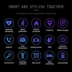 Promo Smartwatch, Caller Id, Heart Rate, Alarm Clock, New Technology, Clock, Wake Up Call, Smart Watch, Alarm Clocks