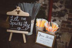 Sparklers Whimsical Boho Woodland Wedding http://katmervynphotography.com/