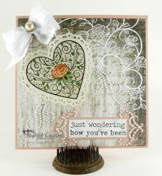 Heartfelt Creations   Peach Rose Heart