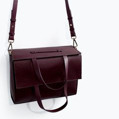 ZARA - WOMAN - LEATHER SHOPPER BAG