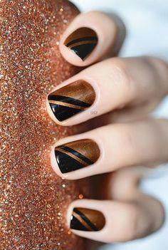26 originales diseños de uñas con formas geométricas geometric nail design