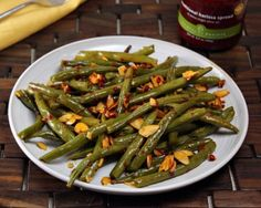 Grilled Green Beans With Harissa Recipe — Dishmaps