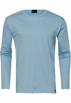 Mey Basic Lounge Shirt 1/1 Mouw Light Blue