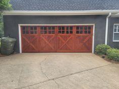 Custom wood garage door Atlanta ga Modern Garage Doors, Wood Garage Doors, Glass Garage Door, Garage Door Repair, Garage Door Company, Flowery Branch, Custom Wood, Atlanta, Commercial
