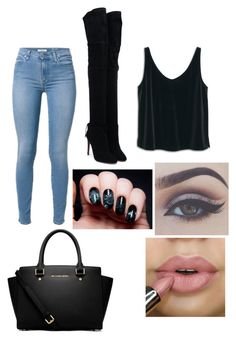 """""""Untitled #112"""" by domo10momo ❤ liked on Polyvore featuring Aquazzura, MANGO and MICHAEL Michael Kors"""