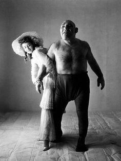 photos by Irving Penn — Dorian Leigh and Maurice Tillet
