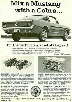 Mix a Mustang with a Cobra advert