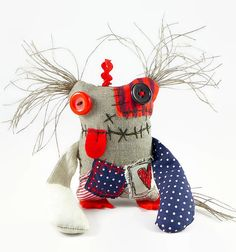 Monster Doll Baby Monster Friendly Monster by MiaPuPe on Etsy