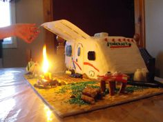 camping themed birthday cakes - Google Search