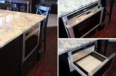Drawer Microwave. Kitchen appliances galore.
